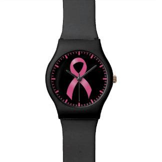 Relógio De Pulso Fita cor-de-rosa do cancro da mama