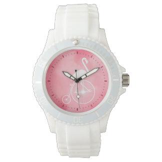 Relógio De Pulso Flamingo que monta uma bicicleta