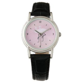 Relógio De Pulso Flamingos cor-de-rosa