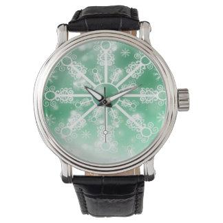 Relógio De Pulso Floco de neve verde
