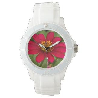 Relógio De Pulso Flor de Borgonha