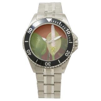 Relógio De Pulso Flor do Evergreen chinês