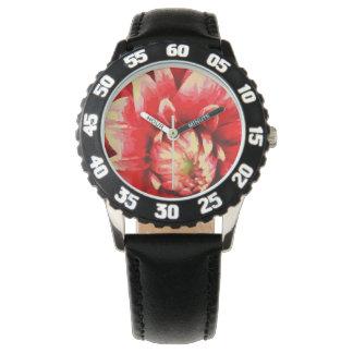 Relógio De Pulso Flor vermelha grande