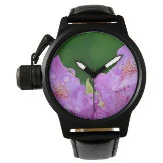Relógio De Pulso Flor violeta