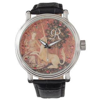 Relógio De Pulso Flores da fantasia da SENHORA E do UNICÓRNIO,