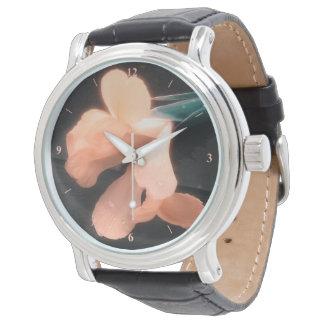 Relógio De Pulso Flores na ardósia, versão 4