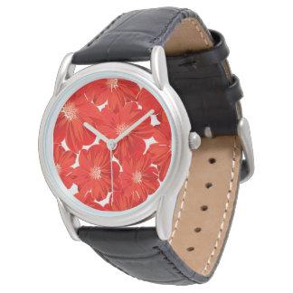 Relógio De Pulso Flores vermelhas pequenas