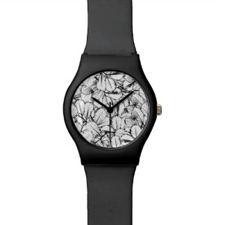 Relógio De Pulso Folhas do branco