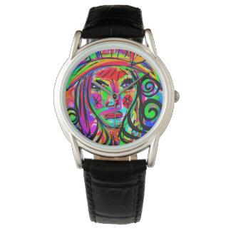 Relógio De Pulso Forma Relógio-Julie Everhart do desenhista do