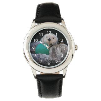Relógio De Pulso Foto brincalhão das lontras de mar