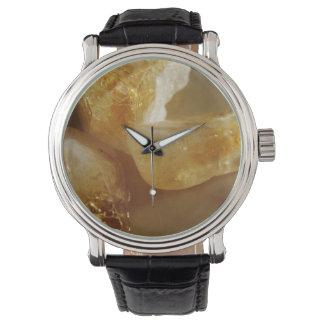 Relógio De Pulso Foto citrina de pedra preciosa