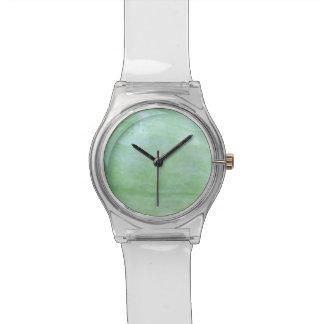 Relógio De Pulso Foto da polpa do jardim do verde da hortelã ou de