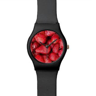 Relógio De Pulso Fundo das morangos