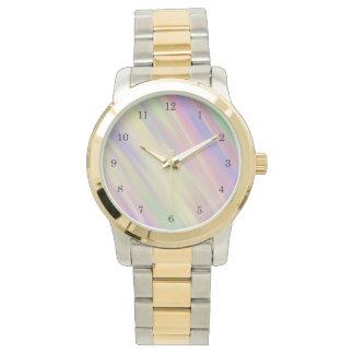 Relógio De Pulso Fundo misturado multi cor do estilo da tintura do