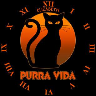 cb078ce6103 Relógio De Pulso Gato de ronrom e vida pura de Sun Purra Vida