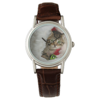 Relógio De Pulso Gato do Natal - gato do gatinho - gatos bonitos