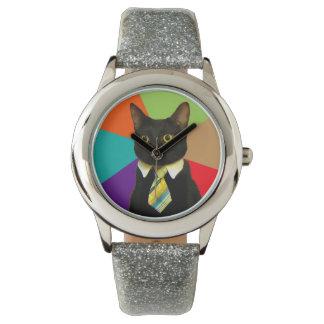 Relógio De Pulso gato do negócio - gato preto