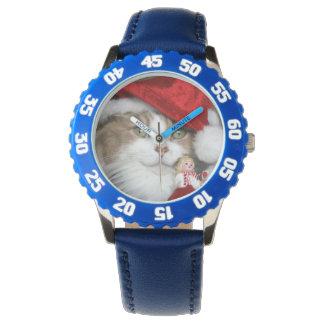 Relógio De Pulso Gato do papai noel - gato do Natal - gatinhos