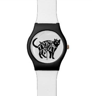 Relógio De Pulso Gato preto da doçura ou travessura do Dia das