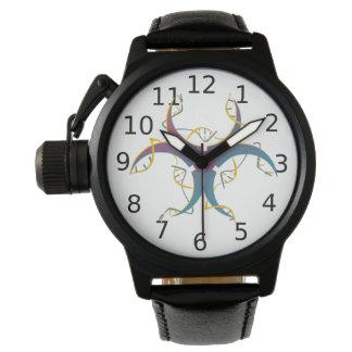 Relógio De Pulso Gene que emenda o bio símbolo do perigo