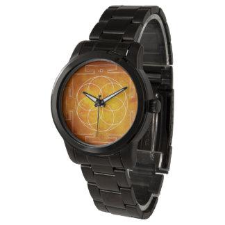 Relógio De Pulso Geometria SAGRADO de   - semente do yantra da vida