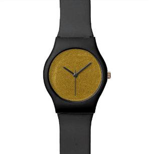 75aa094b673 Relógio De Pulso Grões amarelas cruas puras do seixo da poeira