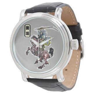 Relógio De Pulso herói chinês,  関羽 com 赤兎馬 de Sekitoma