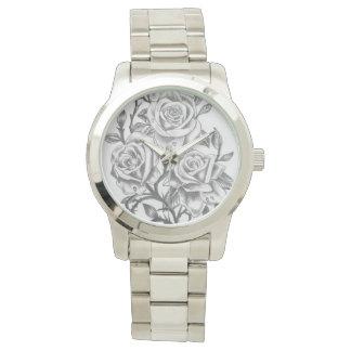 Relógio De Pulso hora feita sob encomenda de cheirar os rosas