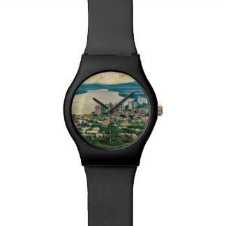Relógio De Pulso Ideia aérea do subúrbio de Guayaquil do plano