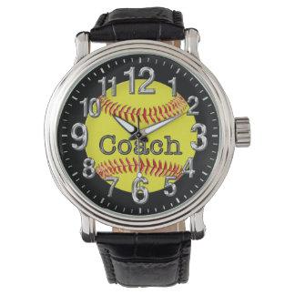 Relógio De Pulso Ideias do presente do treinador do softball,