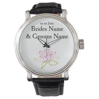 Relógio De Pulso Ideias elegantes simples modernas do casamento do