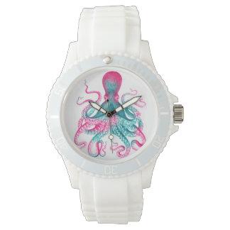 Relógio De Pulso Ilustração do polvo - vintage - kraken