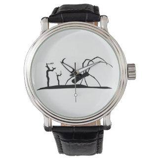 Relógio De Pulso Ilustração escura do gráfico do estilo da silhueta