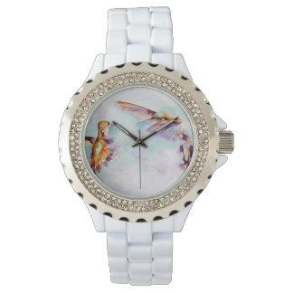 Relógio De Pulso Impressão crepuscular do colibri dos dançarinos