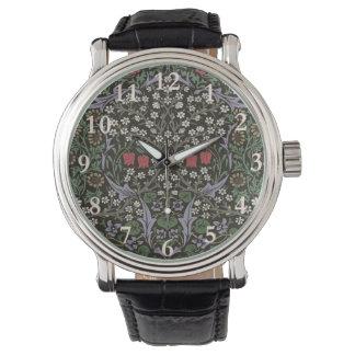 Relógio De Pulso Impressão da arte da tapeçaria da ameixoeira-brava