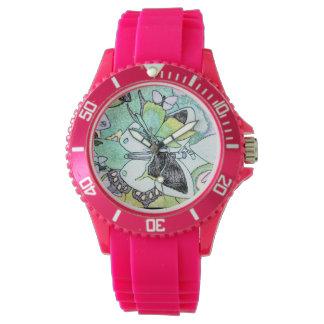 Relógio De Pulso Impressão de cor extravagante da água da colagem