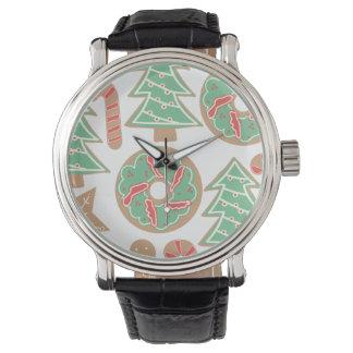 Relógio De Pulso Impressão do cozimento do Natal