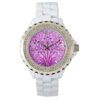 Relógio De Pulso Impressão, lavanda e violeta do jacinto de William