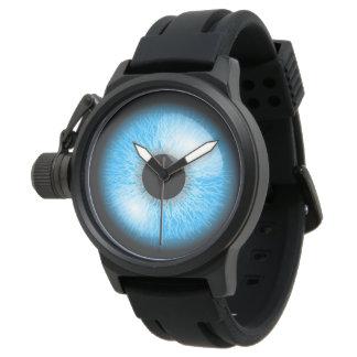 Relógio De Pulso Impressão realístico azul assustador do globo