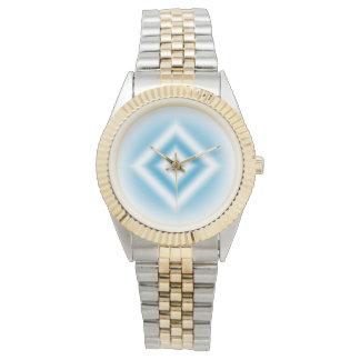 Relógio De Pulso inclinação azul do diamante do Personalizar-céu