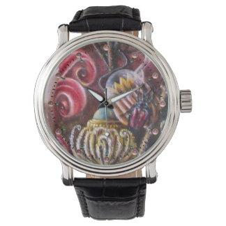 Relógio De Pulso JARDIM de MELISSA/flores mágicas com escaravelho
