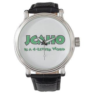 Relógio De Pulso JCAHO é uma palavra 4-Letter