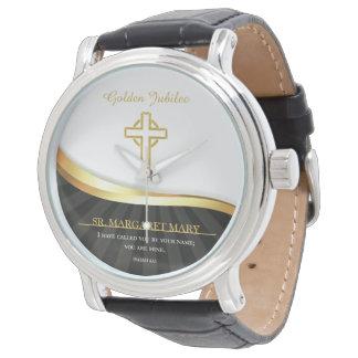 Relógio De Pulso Jubileu dourado da vida religiosa, 50 anos