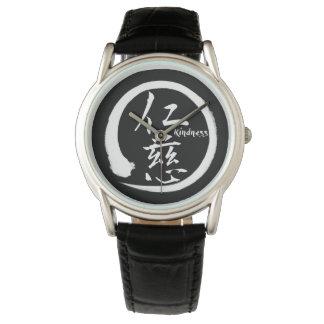 Relógio De Pulso Kanji japonês alaranjado do círculo   do enso para