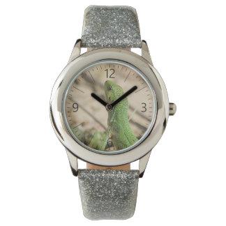 Relógio De Pulso Lagarto verde