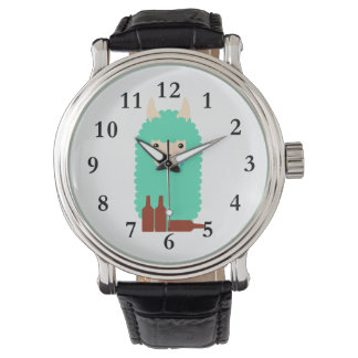 Relógio De Pulso Lama bêbedo Emoji