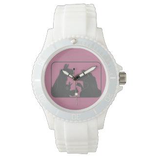 Relógio De Pulso Lamas, coelhos & Natal ou Anyday dos gansos  