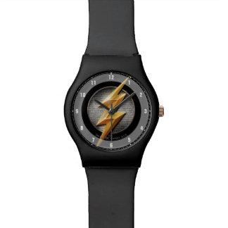 Relógio De Pulso Liga de justiça   o símbolo metálico instantâneo