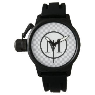 Relógio De Pulso LightGreyCheckerboard