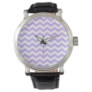 Relógio De Pulso Lilac Chevron
